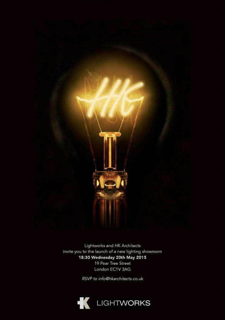 HK Lightworks showroom party invite